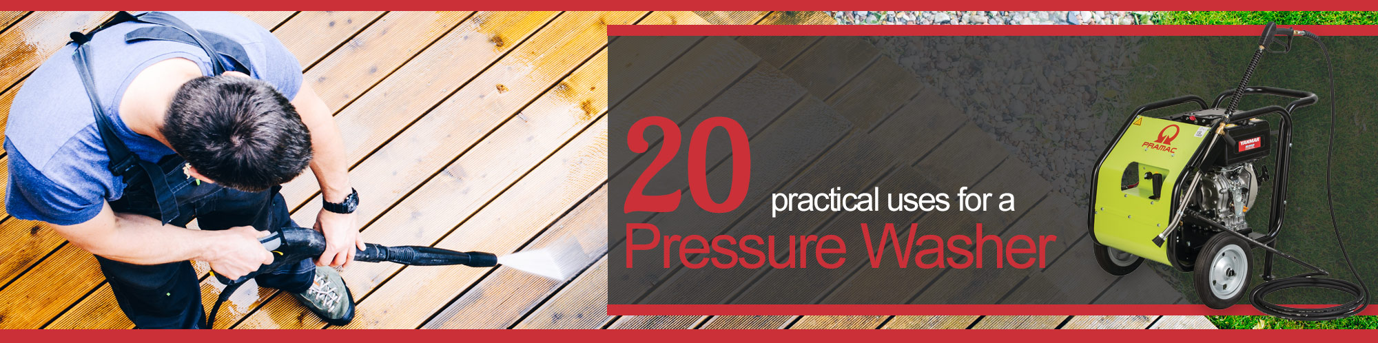 pressure washer uses
