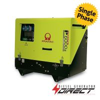 Pramac P6000s 4.4kW / 4.9kVA 230V Only Diesel Portable Generator with Yanmar Engine