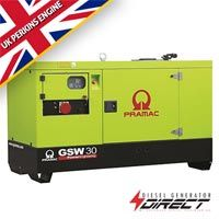 30 kVA Pramac-Perkins Silent/Enclosed Diesel Generator GSW30