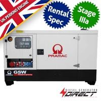 Pramac Perkins GSW22P Rental Spec 20 kVA Three Phase Silent Diesel Generator