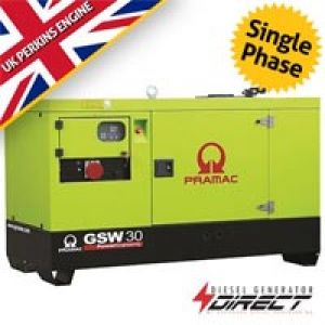 Pramac Perkins GSW30P 20 kVA Single Phase Silent Diesel Generator