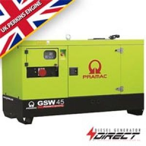 Pramac Perkins GSW45P 46 kVA Silent Three Phase Auto Start Diesel Generator