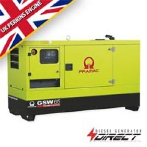 60 kVA GSW65 Pramac Perkins Silent/Enclosed Diesel Generator