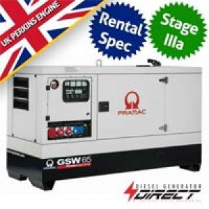 Pramac Perkins GSW67P Rental Spec 61 kVA Three Phase Silent Diesel Generator