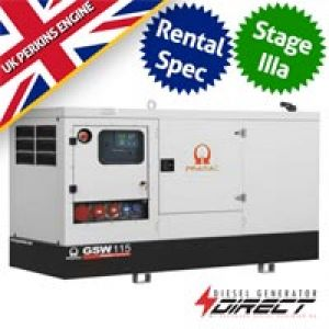 Pramac Perkins GSW115P Rental Spec 106 kVA Three Phase Silent Diesel Generator
