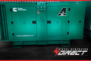 diesel generator used for power at a cement works