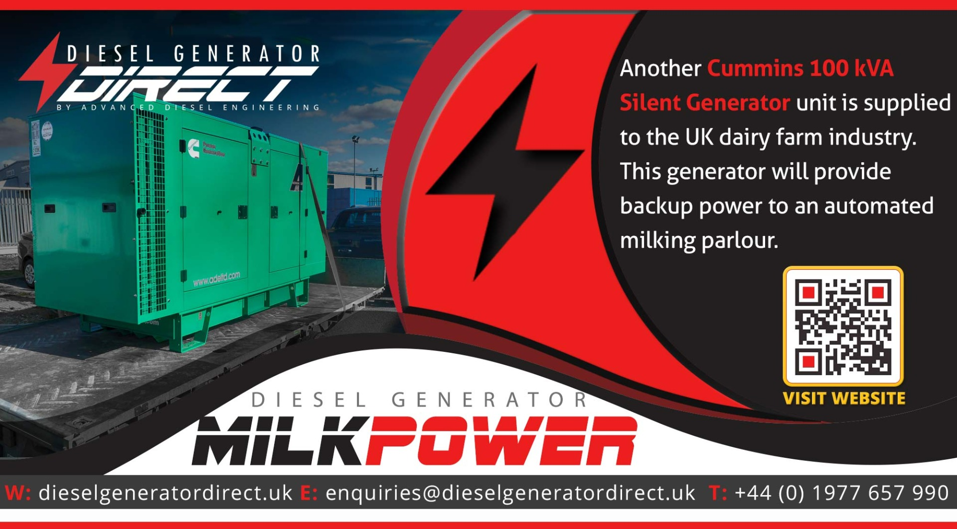 diesel generator for dairy power