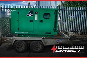 diesel generator to power machinery