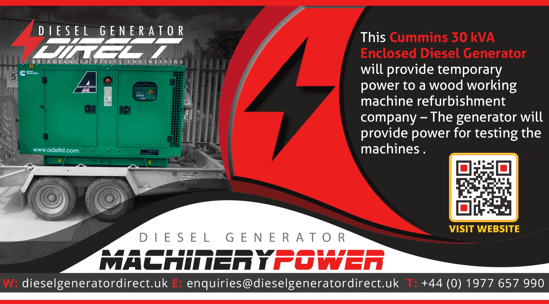 gensets for machinery power
