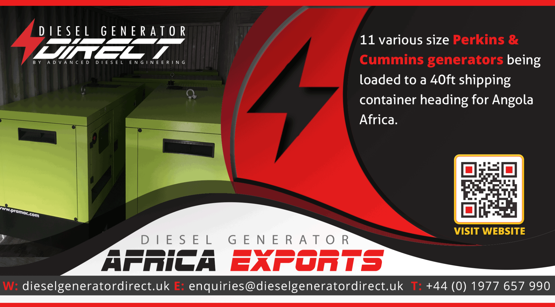 gensets for export to africa