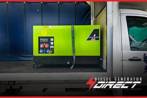 diesel generator for powering a fragrance factory