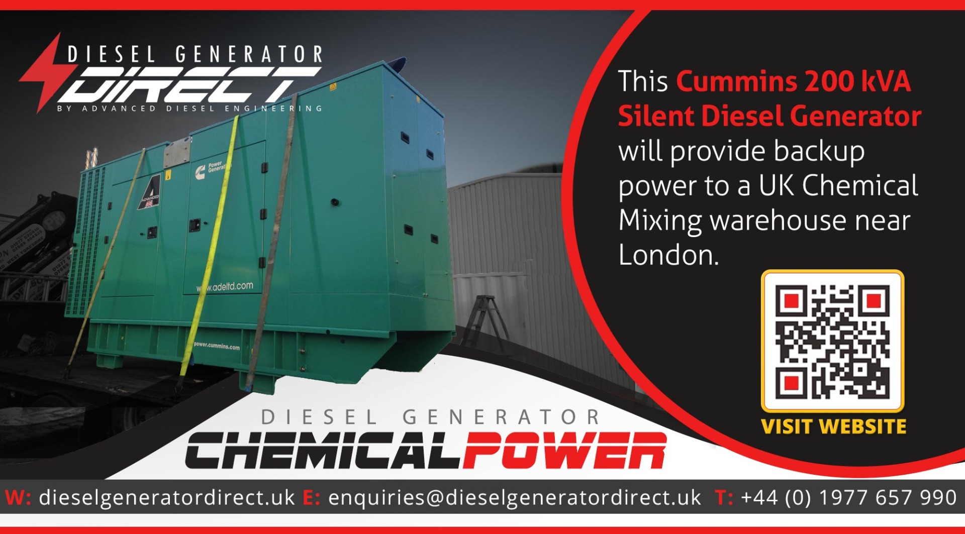 chemical warehouse diesel generator london
