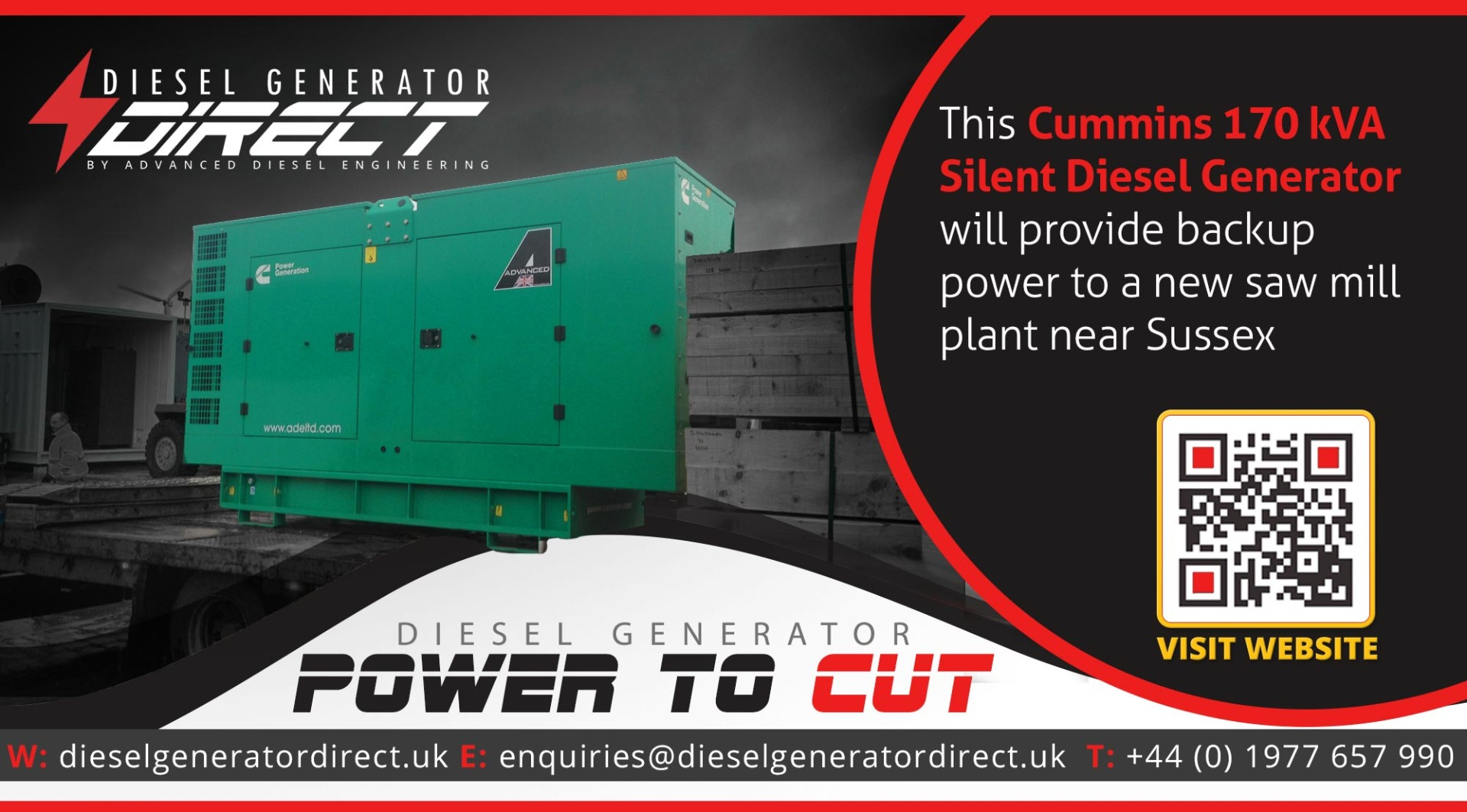 saw mill diesel generator