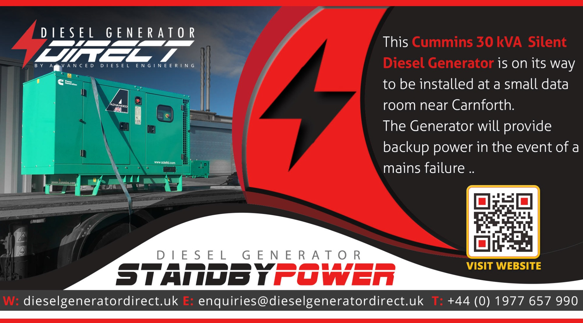 diesel generator for irish standby power