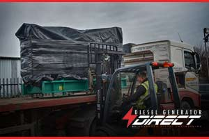 Construction diesel generator delivery