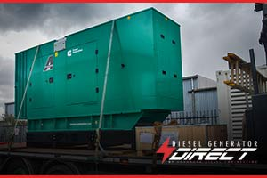 Venue diesel generator delivery to Wiltshire, UK