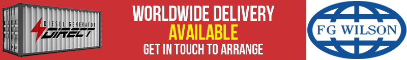Worldwide Delivery Available on all our FG Wilson Diesel Generators