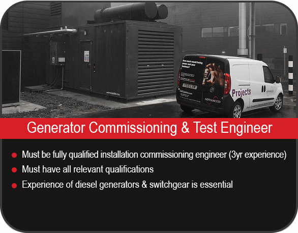 Generator commissioning and test engineer job vacancy in Yorkshire, UK