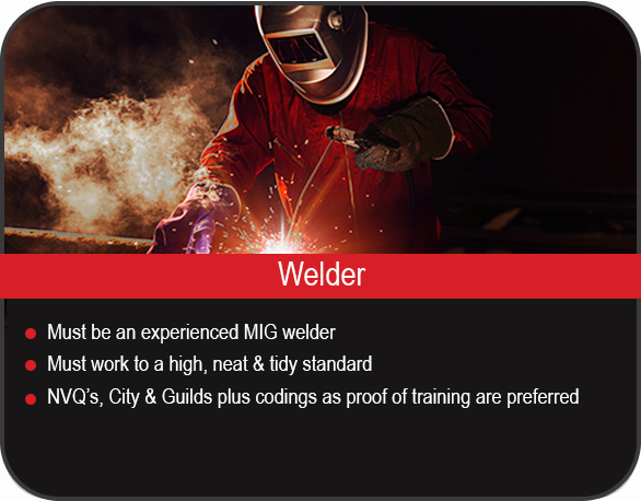 welder/welding job vacancy in Yorkshire, UK